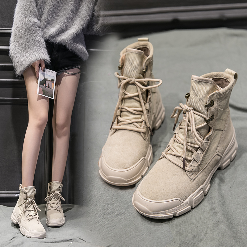 2018 new Martin boots female British wind students Korean version of the wild ins women's boots spring and autumn chic short boots winter