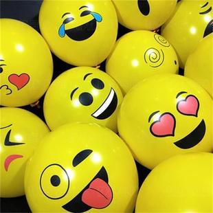加厚QQ表情气球扫码儿童小礼品100个装