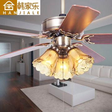 韩家乐欧式复古卧室吊扇灯客厅风扇灯餐厅电扇灯家用美式风扇吊灯