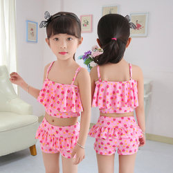 Children and girls big children's one-piece princess boxer skirt cute Korean sunscreen kids girls split swimsuit