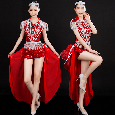Jazz Dance Costumes Modern Dance Costume Jazz Dance Costume Sexy Fashion Costume Suit for Adult Women