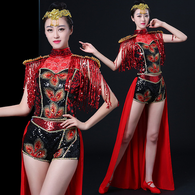Jazz Dance Costumes Jazz dress swallowtail adult performance fashion sequins stage feminine Dance Costume modern dance
