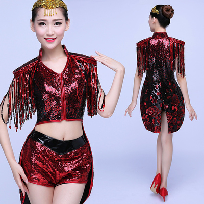 Jazz Dance Costumes Modern Dance Costume Stage Jazz Dance Night Club Swallowtail Suit Sexy DS Performing Suit