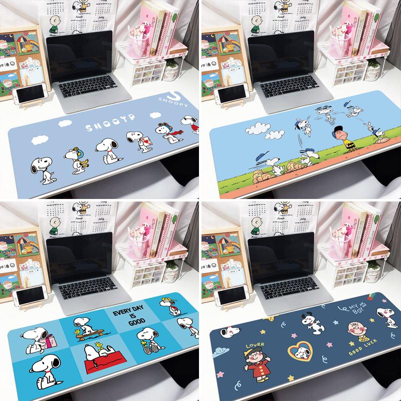 史努比鼠标垫可爱女生超大号个性动漫卡通创意办公写字儿童书桌垫