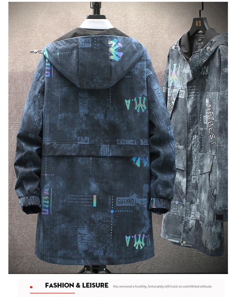 Windshield men's medium-length 2020 autumn/winter new plus-down Korean version trend autumn jacket casual work jacket 33 Online shopping Bangladesh