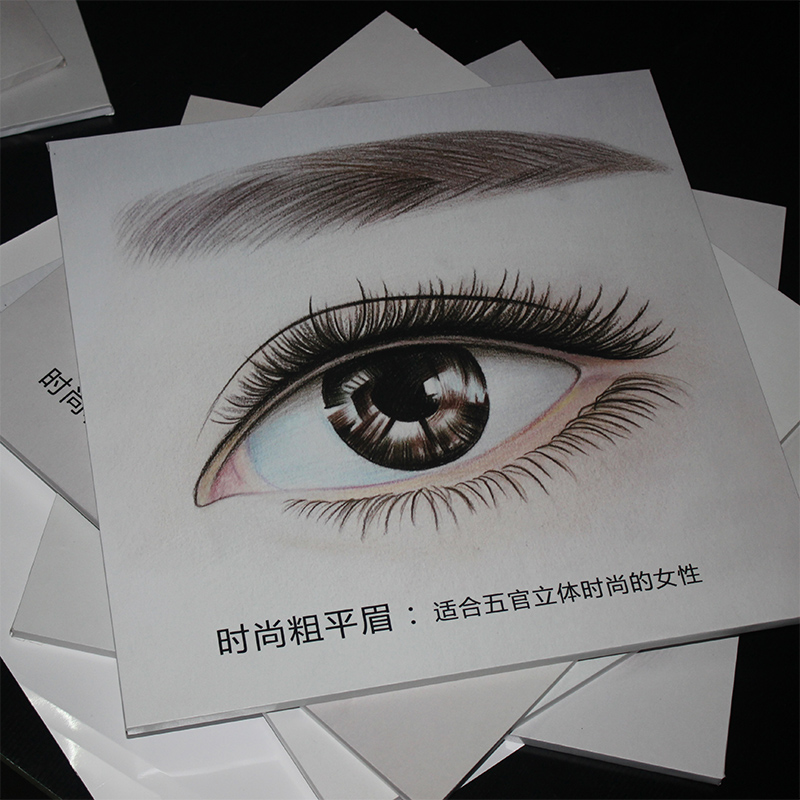 Semi Permanent Decoration Thrush Eye Lip Hanging Hand Painted Sketch Poster Beauty Salon Poster Tattoo Picture Wall Painting