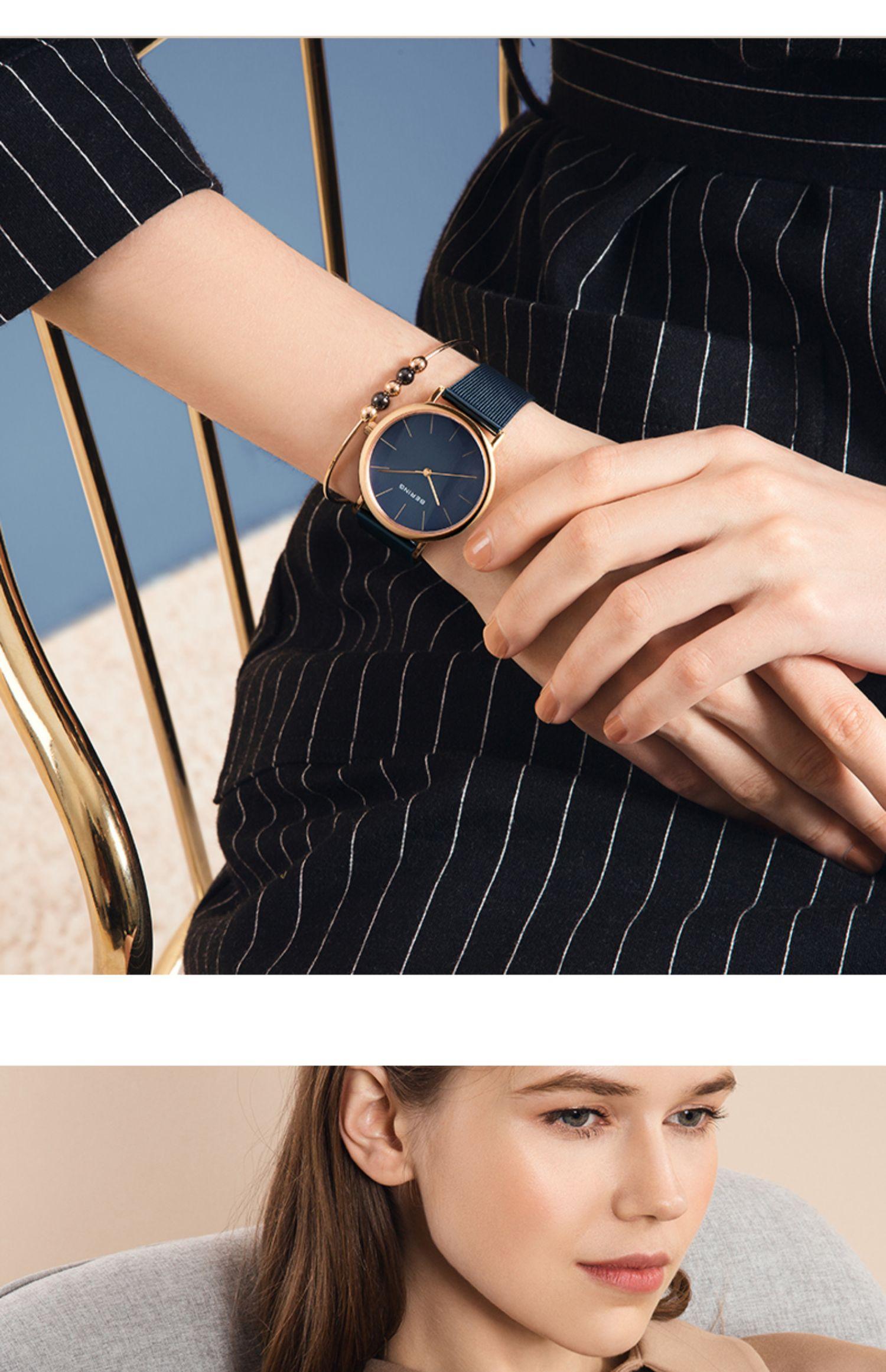 bering手表女正品名牌时尚女表2020新款女士手表品牌白令手表女商品详情图