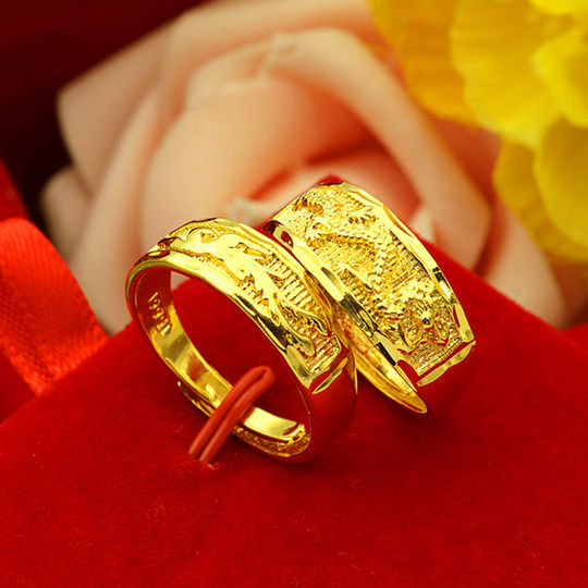 New genuine gold ring for men and women