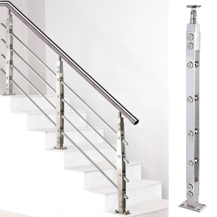 Ordinaire Modern Minimalist Stainless Steel Staircase Handrail Fence Accessories  Duplex Balcony Indoor Home Glass Railing Column