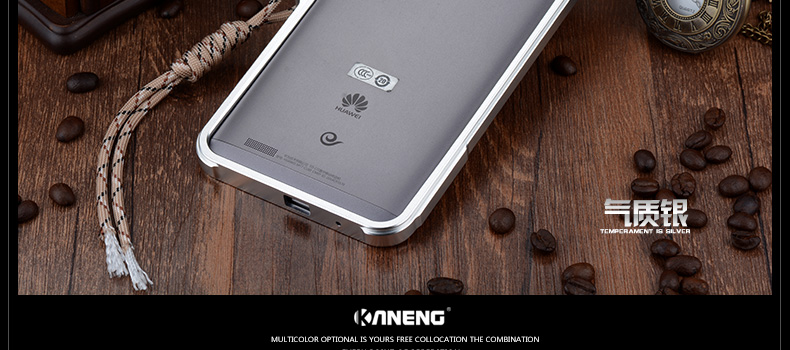 KANENG Mechanical Arm Trigger Aluminum Bumper Metal Frame Case Cover for Huawei Mate 7