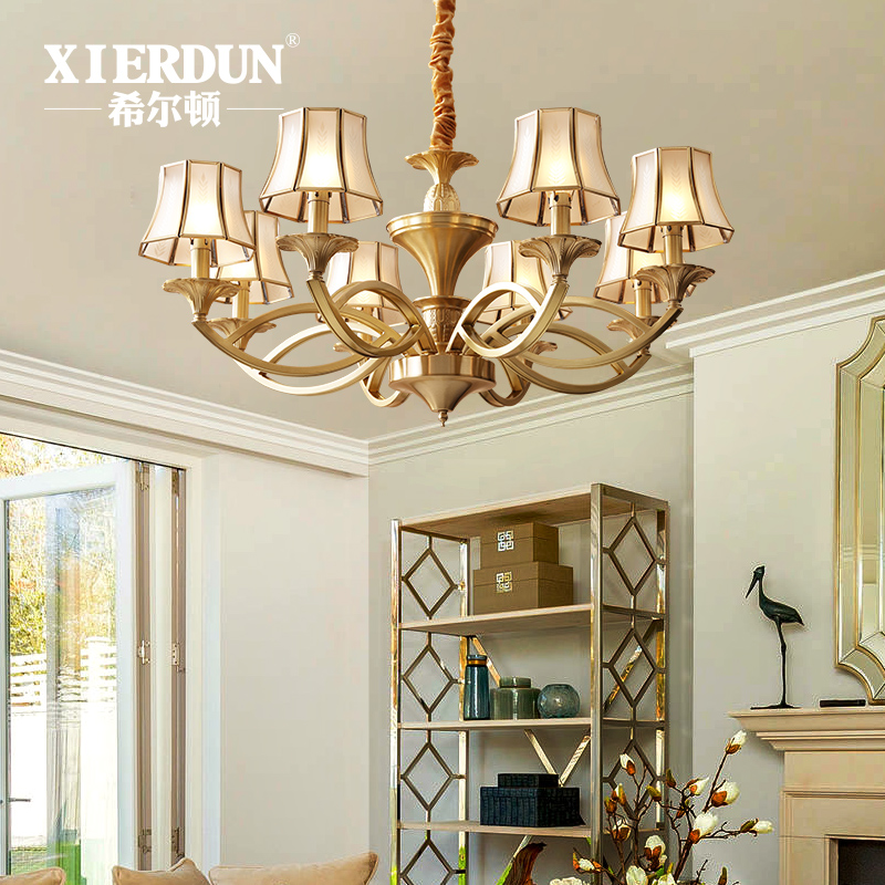 Usd 39232 hilton full copper american chandelier living room hilton full copper american chandelier living room country style dining room lighting home minimalist bedroom light retro lamps mozeypictures Images