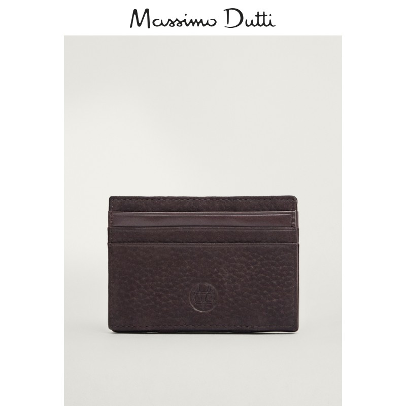 Massimo Dutti Men's Accessories Fall 2020 New Grinding Leather Clip 01630464700
