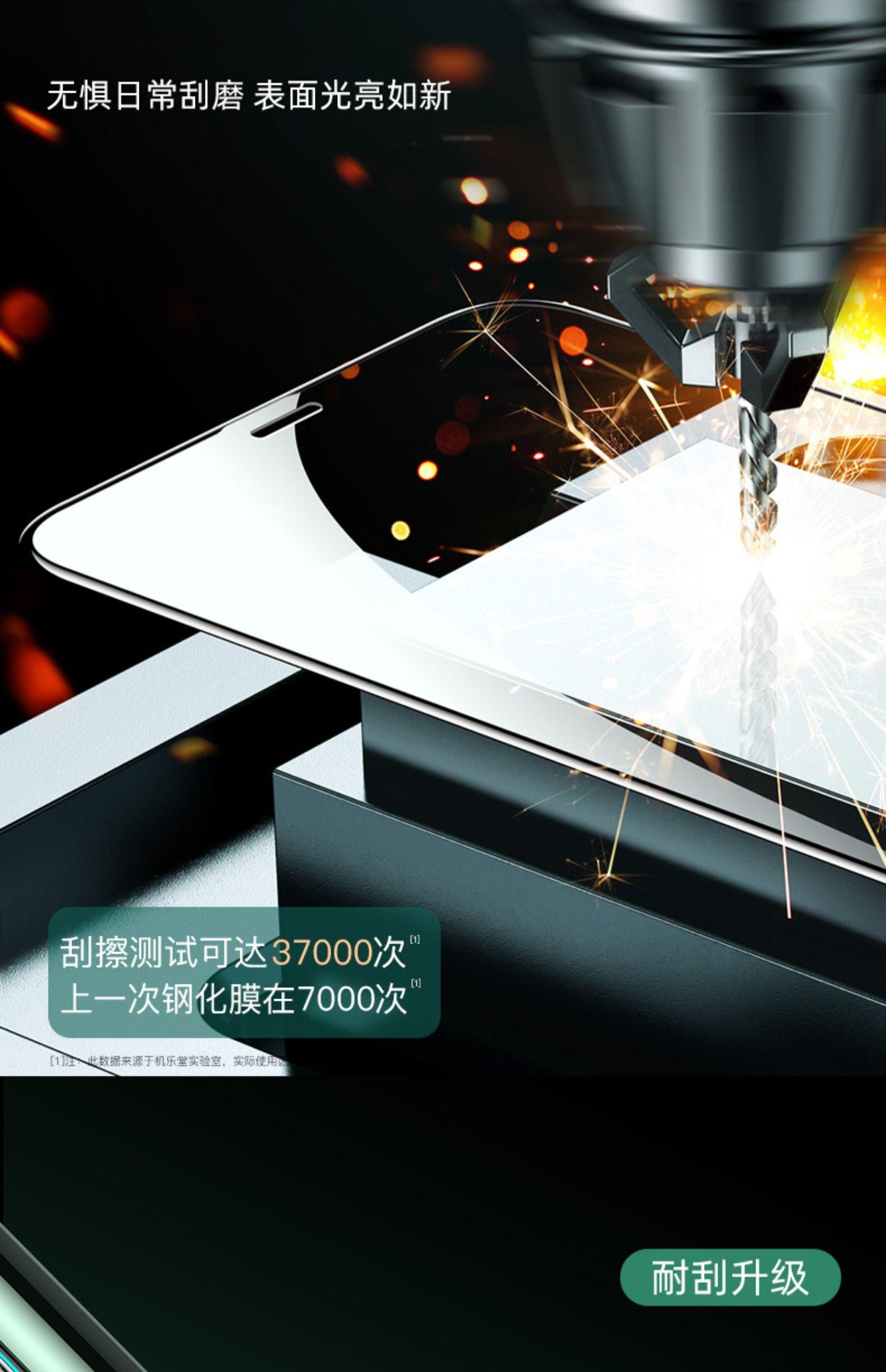 iPhone11钢化膜11ProMax苹果X手机膜XR全屏iphoneXsMax抗摔11Pro全包覆盖6玻璃6s蓝光7保护8plus防爆x超薄膜p商品详情图