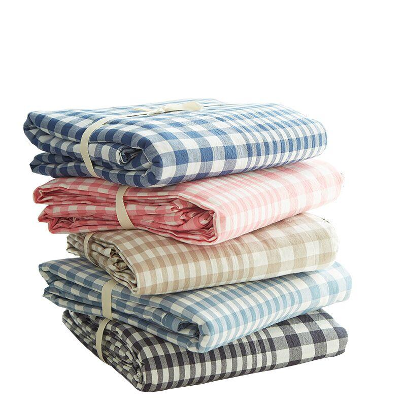 無印良品水洗棉被套單件純棉被罩