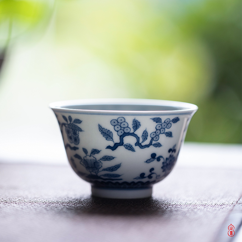 Poly real rings don hand - made porcelain masters cup high - end jingdezhen ceramic sample tea cup tea cups