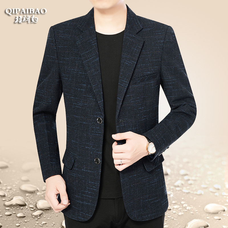 Middle-aged suit men's jacket 2020 spring new Korean version of casual small suit trend jacket dad outfit