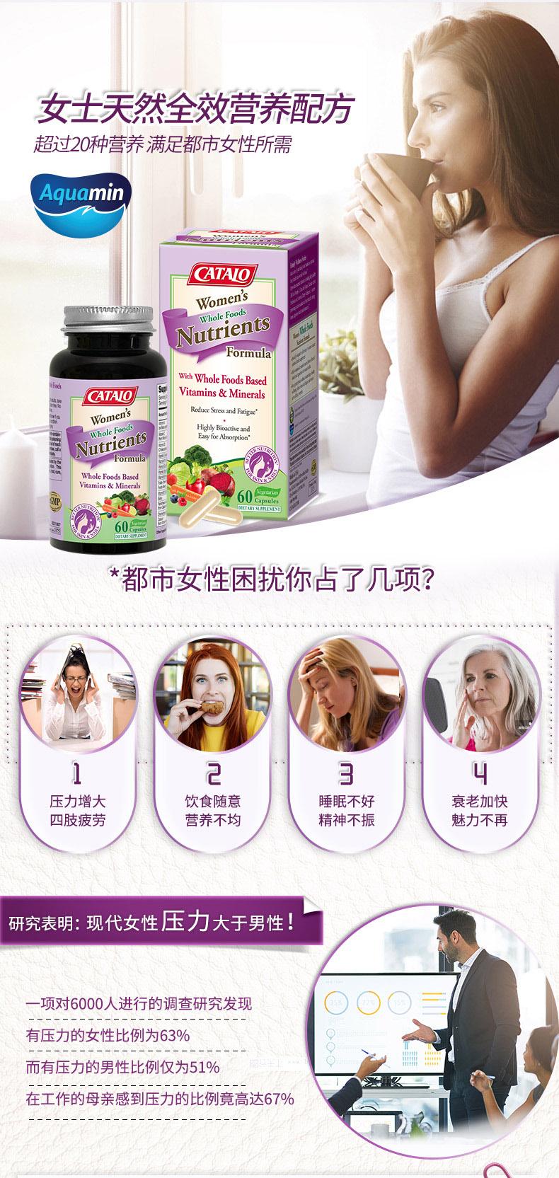 CATALO家得路美国进口女士天然营养配方多种维生素樱桃果蔬精华 产品系列 第1张