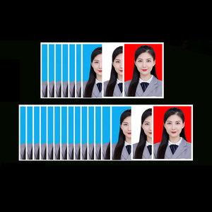 照片冲印证件照1一2二寸换底色