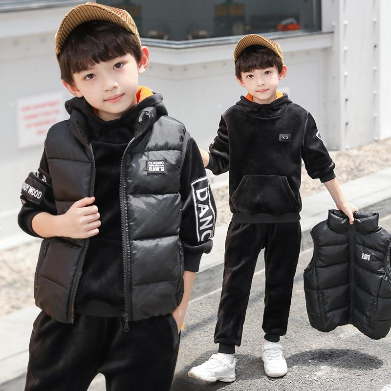男童加绒三件套