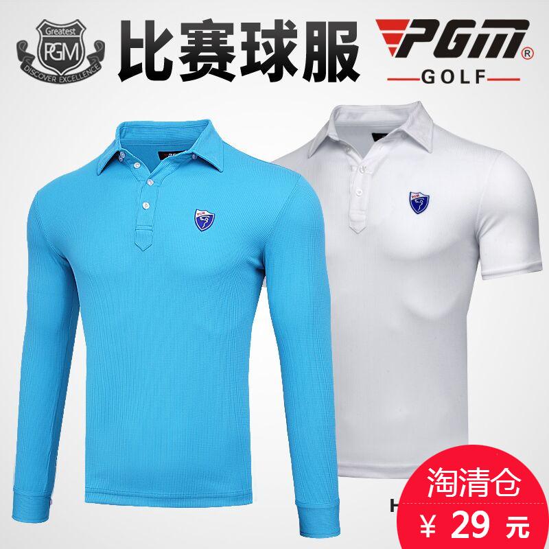 【 нет размера на складе 】PGM гольф мужской длинный короткий рукав T футболки весна одежда golf одежда