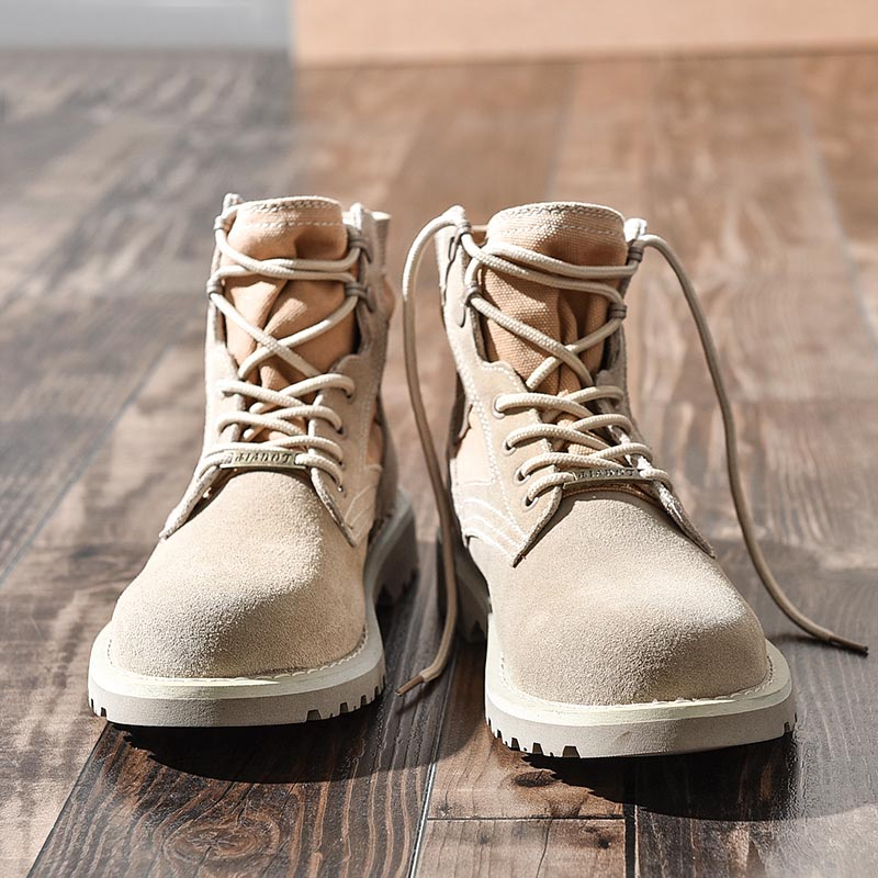 Martin boots men's England winter plus velvet cotton shoes in the tooling men's shoes tide men's boots snow tide shoes high to help military boots