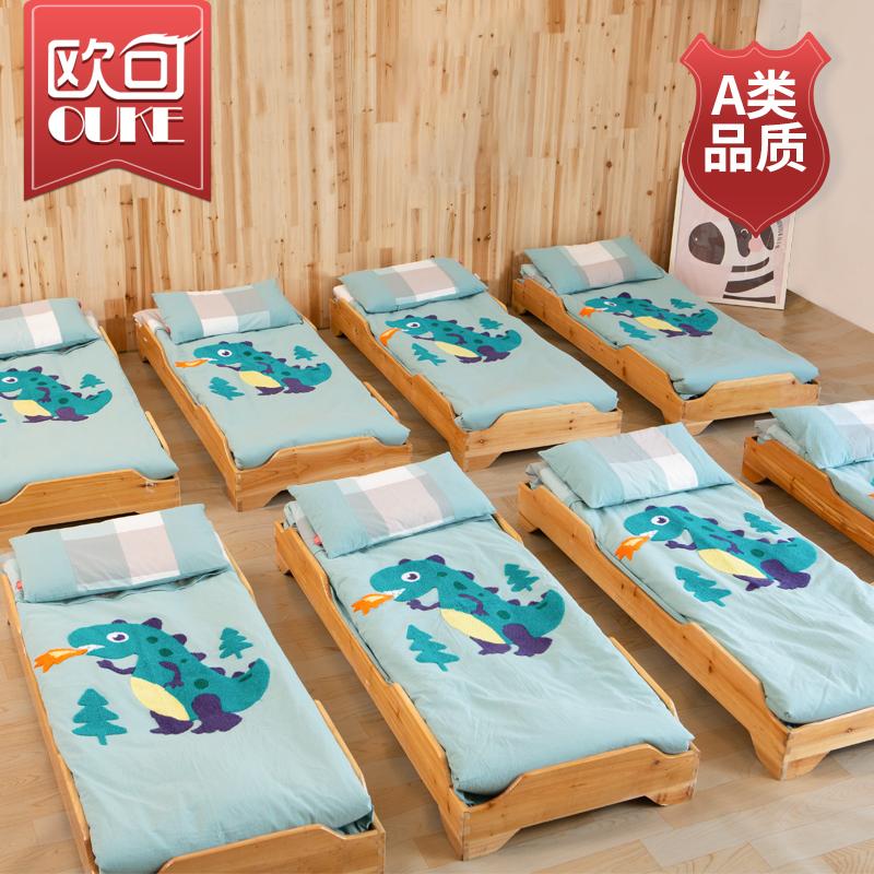 Mẫu giáo quilt ba mảnh thiết lập với lõi bé vào giường giường sáu mảnh trẻ em giường quilt nap quilt bông