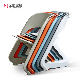 Full time modern simple creative back chair home Nordic fashionable plastic dining chair outdoor stool leisure