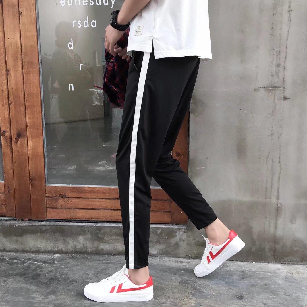 Mùa hè Hàn Quốc phiên bản của hoang dã quần âu nam sinh viên xu hướng chân Mỏng chín quần của người đàn ông phần mỏng lỏng bó sát