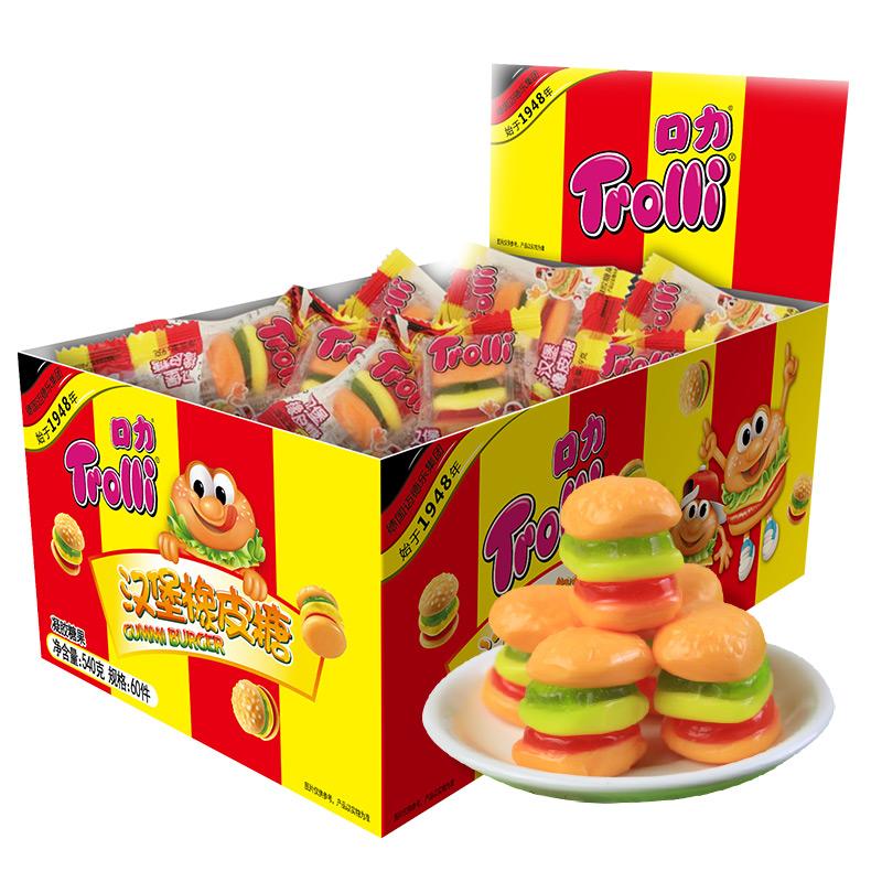 德国口力汉堡橡皮糖540g果汁软糖进口橡皮糖qq糖糖果礼盒儿童零食_领取10元天猫超市优惠券