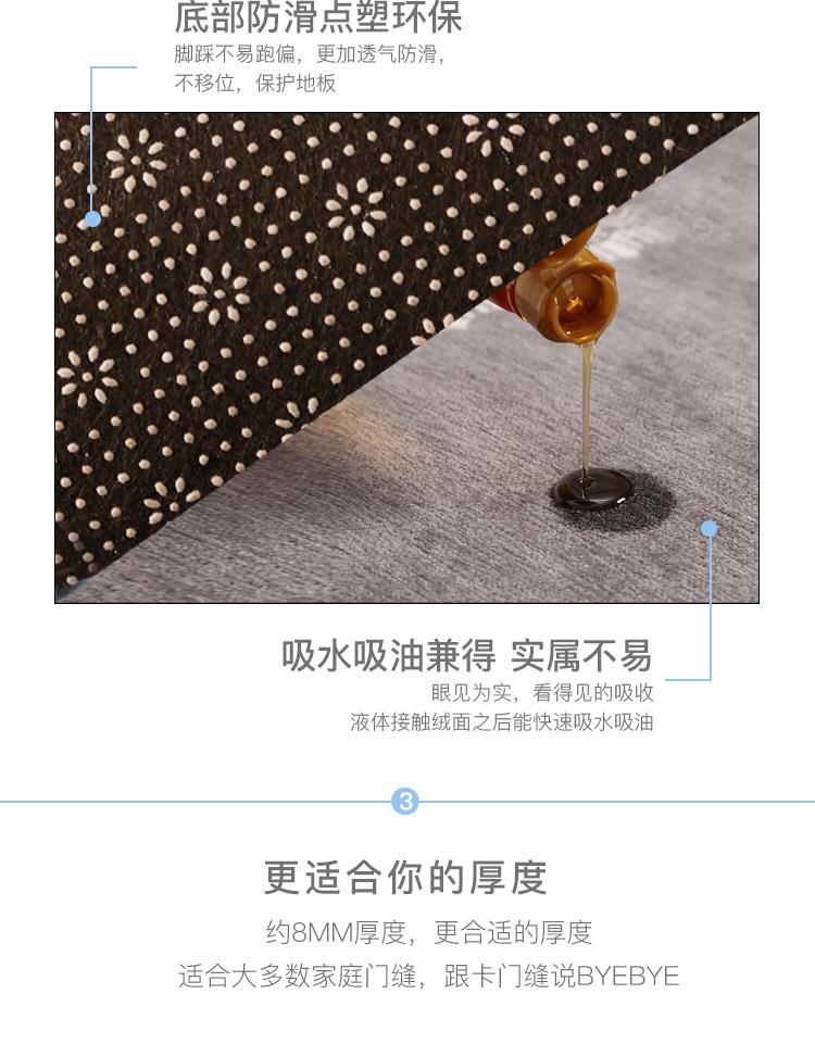 厨房地垫垫子地毯垫防滑门垫防油脚垫门口吸水家用进门入户门定制商品详情图