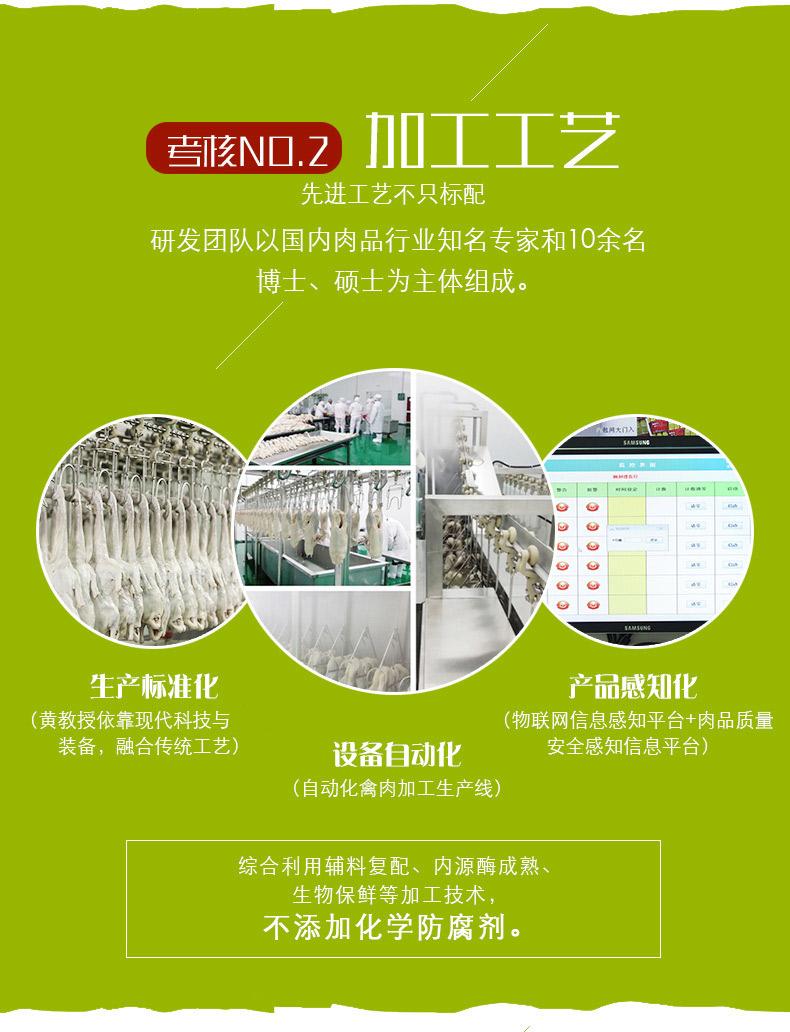 南京特产 南农大黄教授 盐水鸭450g*2袋  无化学添加 图7