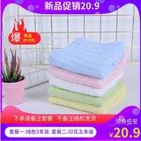 纯棉纱布婴儿口水巾5条�缓�5.9元包邮