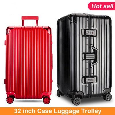 Large Suitcase Big Travel Bag 32 inch Case Luggage Trolley