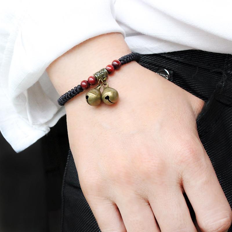 买一送一简约情侣复古铃铛闺蜜手链一对男女学生姐妹生日礼物