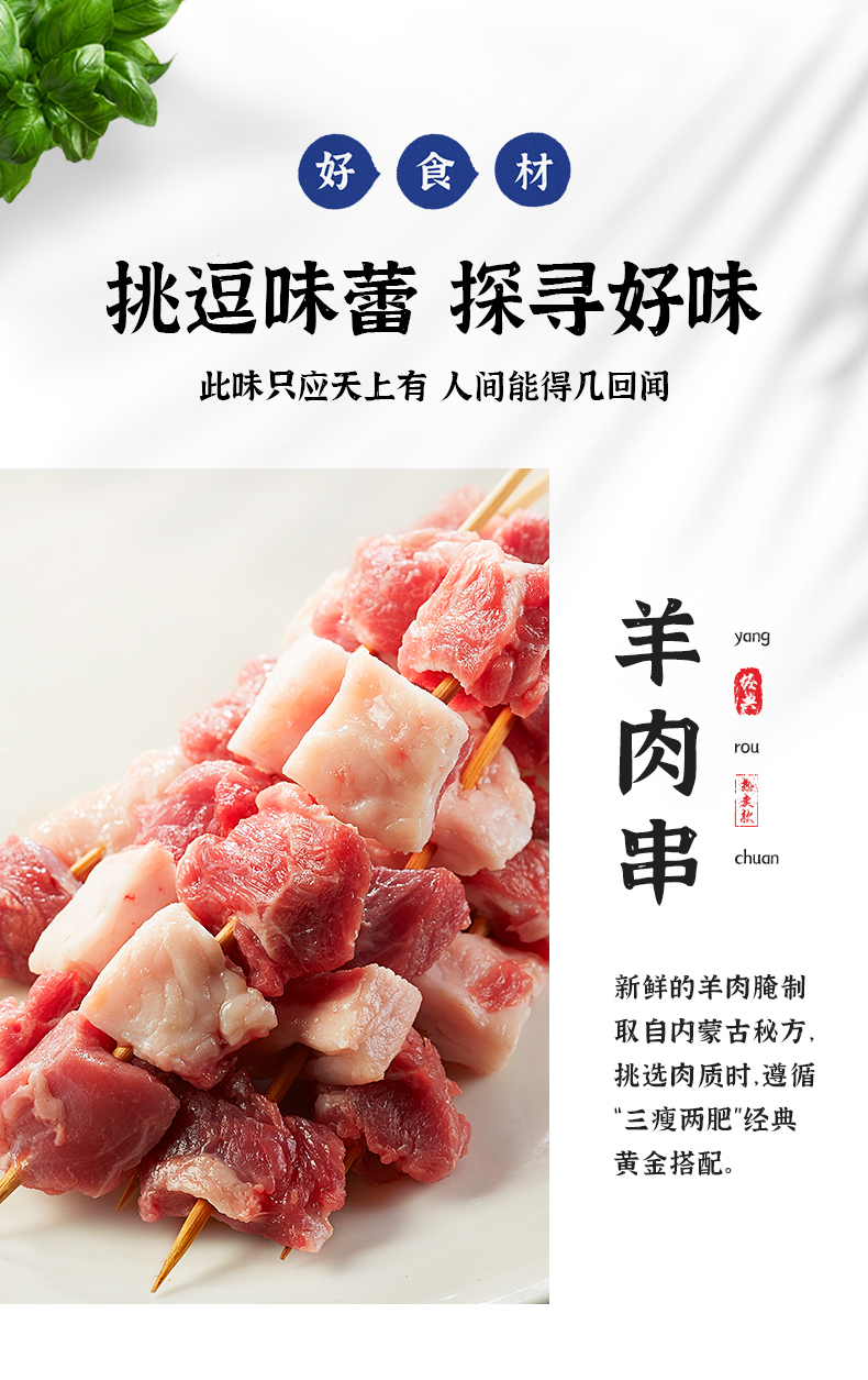 上海家庭烧烤食材半成品人羊肉烤串串家用烤肉套餐送调料工具详细照片
