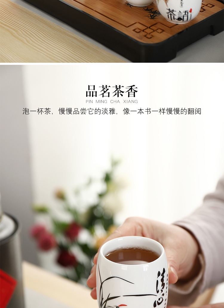Simple girder pot of tea of a complete set of jingdezhen ceramic high - capacity teapot teacup with filter kettle Chinese style household