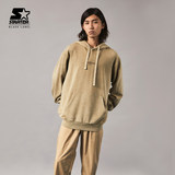 STARTER Men's and Women's Same Style All-match Pure Color Casual Loose Hooded Pullover Sweater