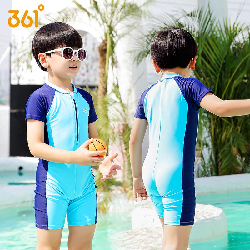 361度男女儿童连体防晒泳衣