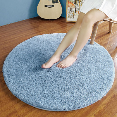 Round gray carpet cute bedroom Nordic computer chair children's hanging basket can sleep and sit on yoga mat