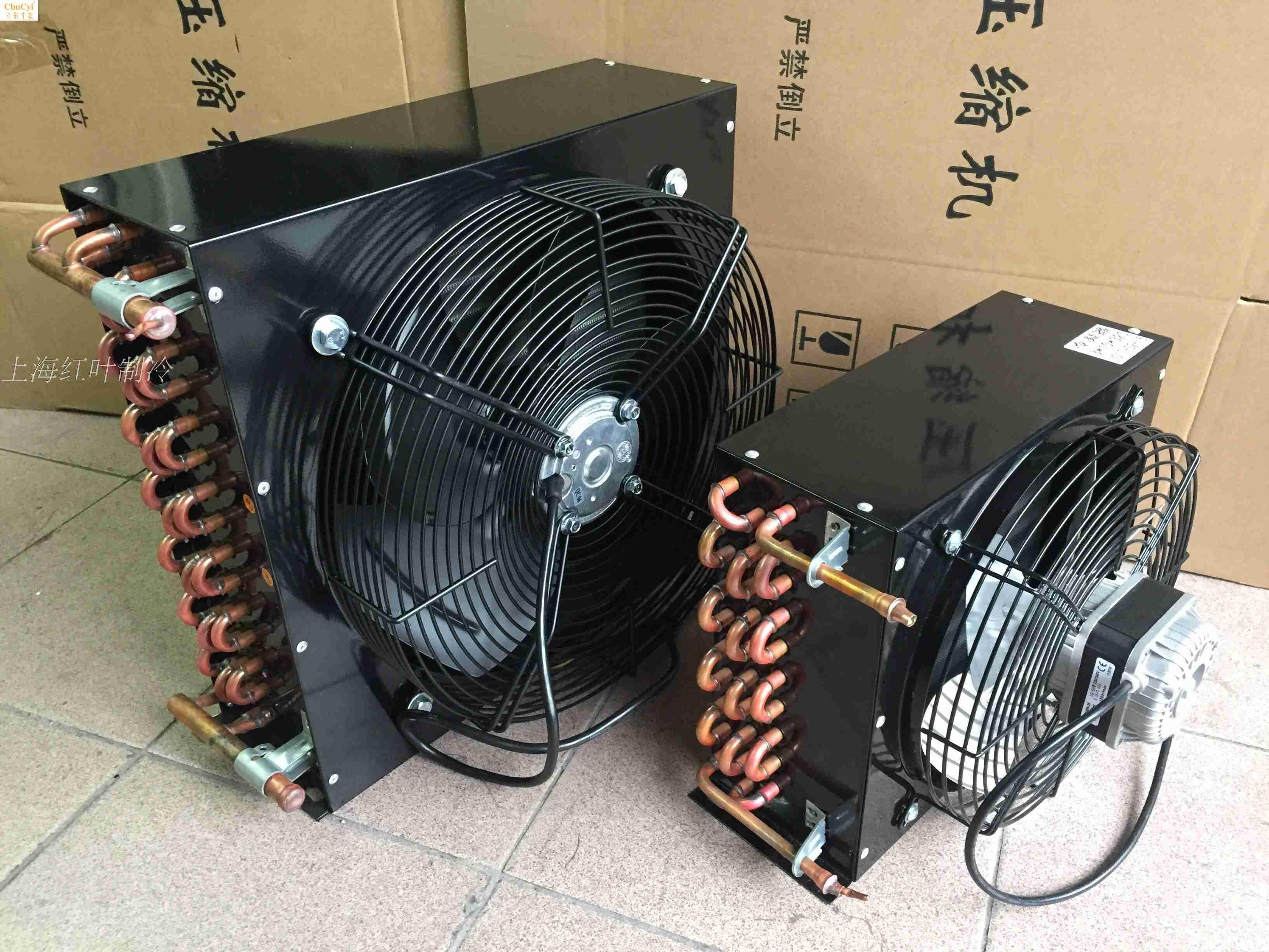 冷凝器风冷水冷冰箱冷柜/鱼缸冷库3*5 3*6 1匹1.5匹散热器 蒸发器