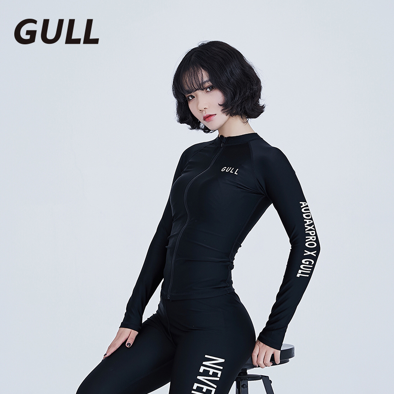 GULL WETSUIT WOMEN'S TWO-PIECE SUN PROTECTION LONG-SLEEVED SWIMSUIT QUICK-DRY JELLYFISH DRESS SHOW THIN SURF SNORKELING SUIT TIGHTS.