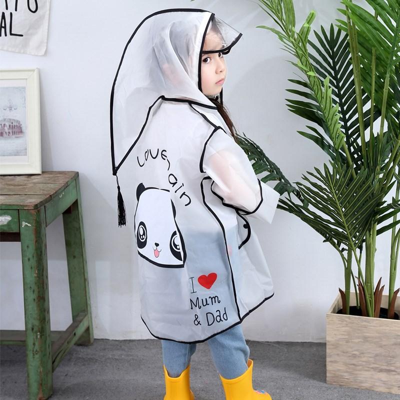 宝宝雨衣雨鞋套装小童幼儿园1-2-3-6岁透明儿童雨衣女童婴儿雨衣