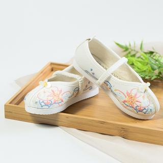 Западный сын спросить оригинал китайский ветер китайский одежда костюм дикий ретро милый маленький ткань обувная малый кожаный обувной установите