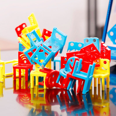 Children's concentration training toy chair Jenga table game parent-child interaction balance puzzle boy and girl
