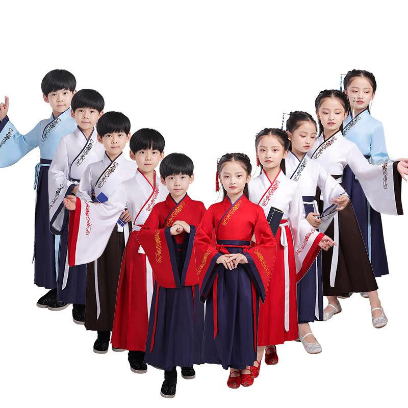 儿童古装中国风书童演出服装