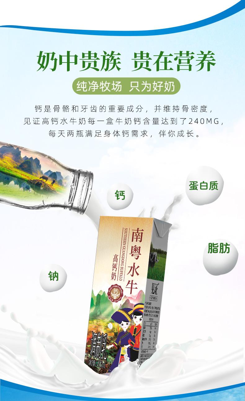 【拍3件】见证高钙水牛奶200ml*30