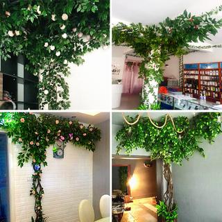 Моделирование цветение вишни ложный дерево лист филиал дерево виноградная лоза гостиная комнатный зеленый завод виноградная лоза ротанг потолок завод стена декоративный ландшафтный дизайн, цена 4247 руб