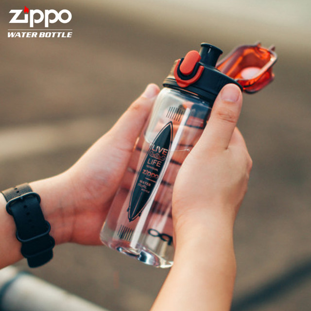 American zippo plastic drop resistance men and women large-capacity outdoor portable water bottle cup Tritan Cup fitness