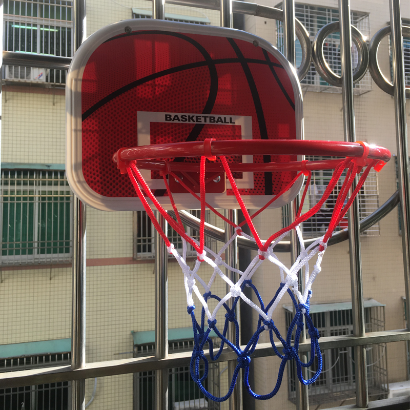 Free hole hanging basketball frame small basket wall hanging indoor household children's basketball frame baby shooting toy