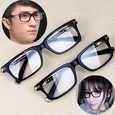 板材眼镜框a板材小脸男女款funhatch复古显瘦轻巧眼镜架银